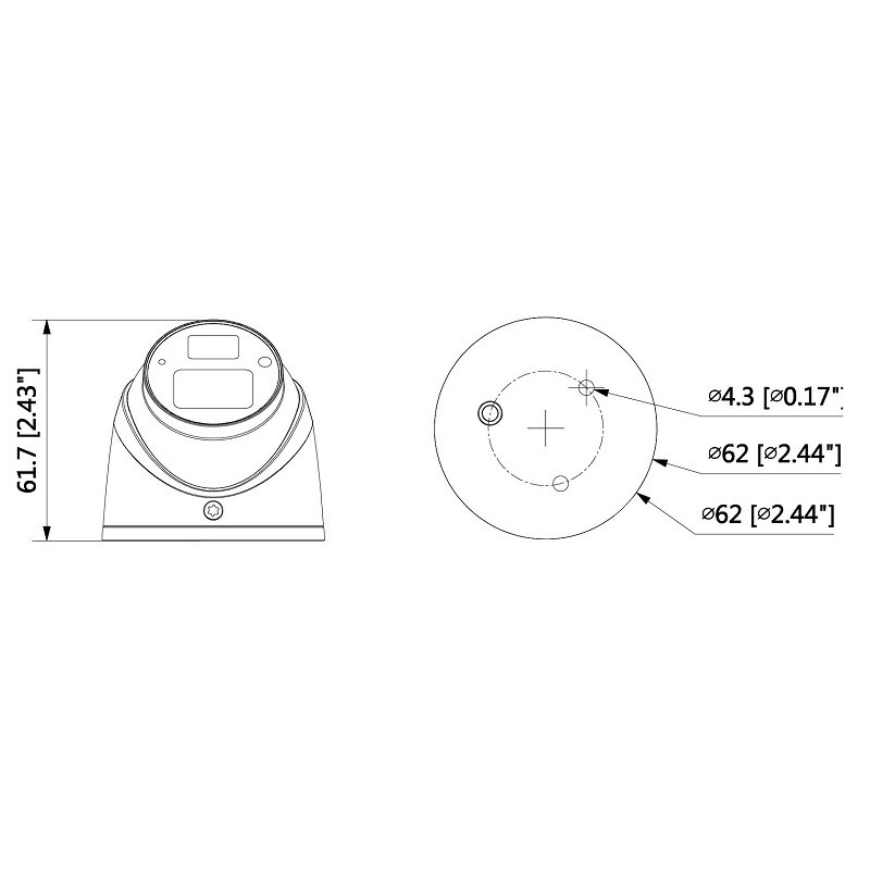 Dahua HAC-HDW1220GP-0360B 2 Mpx dome HDCVI kamera