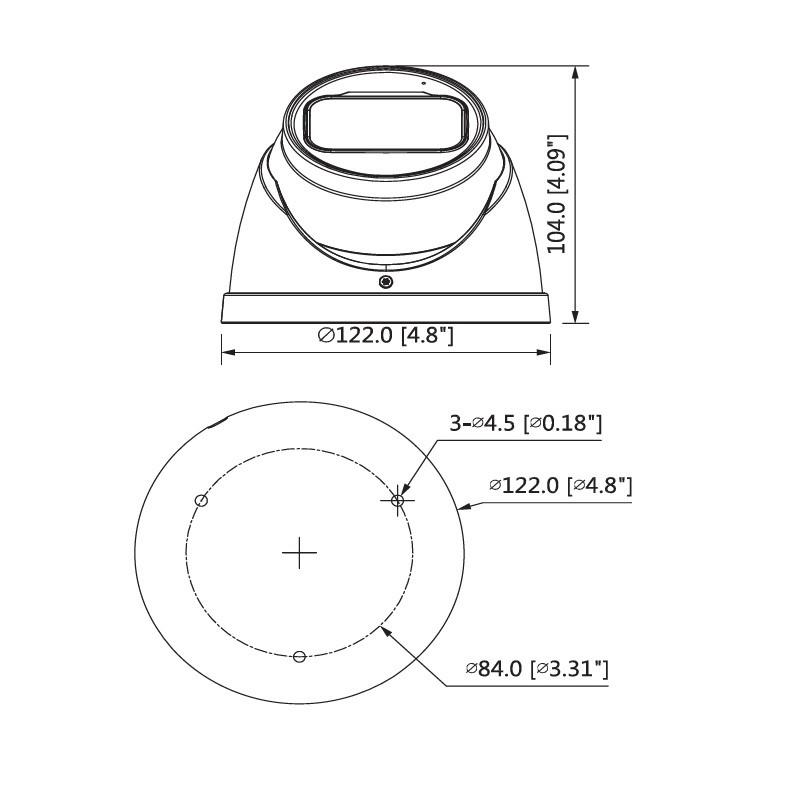 Dahua HAC-HDW1400TP-Z-A-2712-S2 4 Mpx dome HDCVI kamera