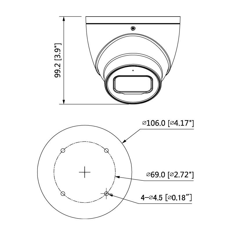 Dahua HAC-HDW2241TP-A-0280B dome HDCVI kamera