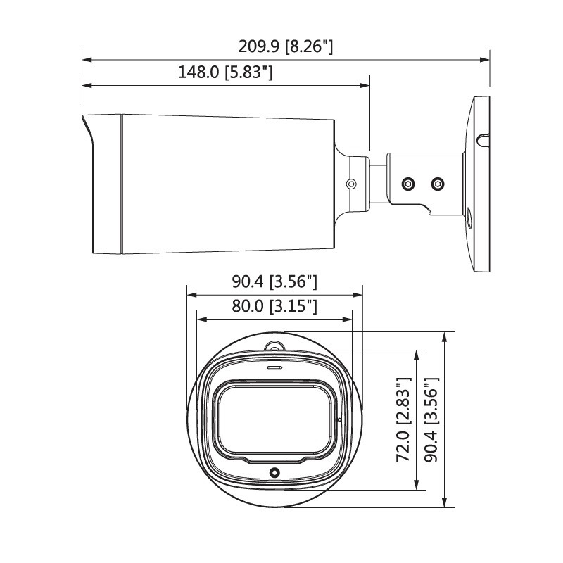 Dahua HAC-HFW1400RP-Z-IRE6-2712-S2 kompaktní HDCVI kamera