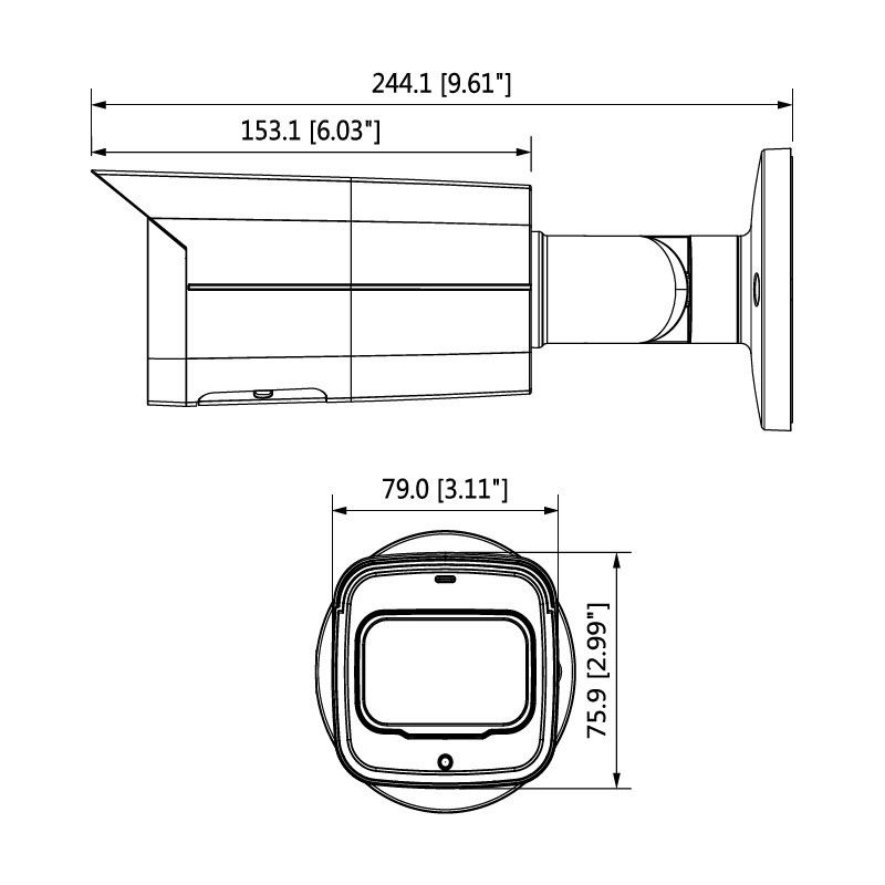 Dahua HAC-HFW2241T-I8-A-0360B 2 Mpx kompaktní HDCVI kamera