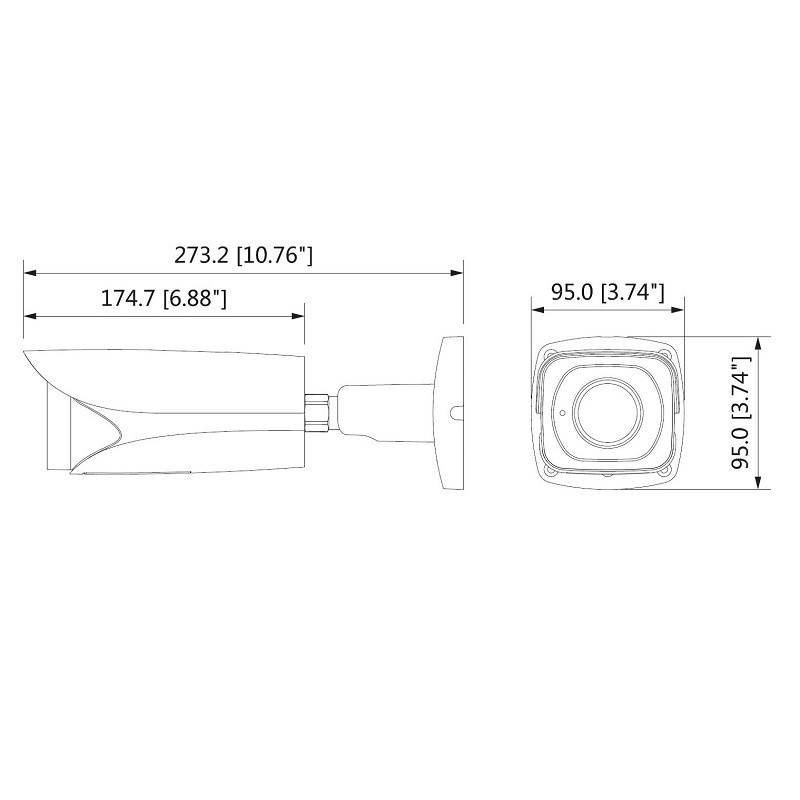 Dahua HAC-HFW3802EP-Z 8 Mpx HDCVI kompaktní kamera