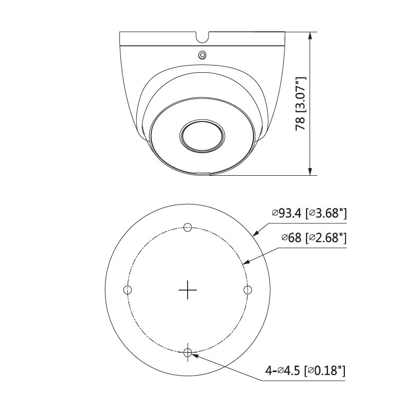 Dahua HAC-T2A21P-0280B dome HDCVI kamera