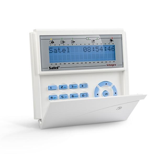 Satel INT-KLCDR-BL LCD klávesnice s dvířky a RFID