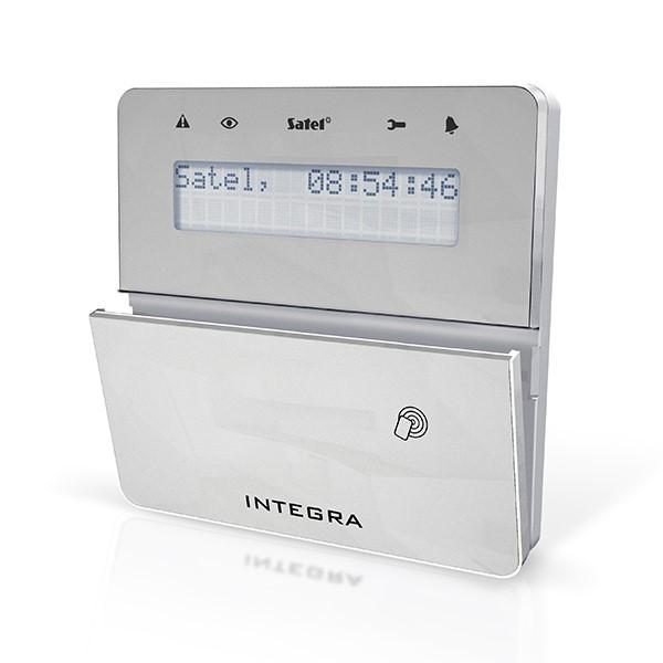 Satel INT-KLFR-SSW LCD klávesnice s dvířky a RFID