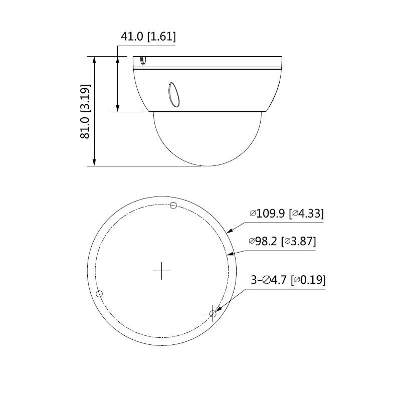 Dahua IPC-HDBW2231E-S-0280B-S2 2 Mpx dome IP kamera