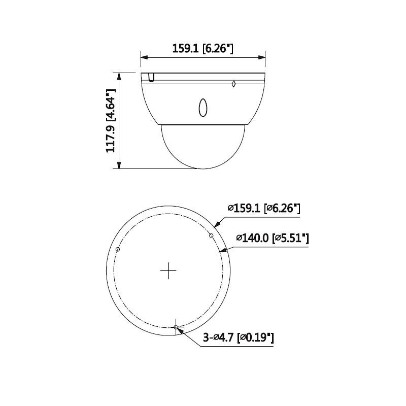 Dahua IPC-HDBW5541E-ZE-27135-DC12AC24V 5 Mpx dome IP kamera