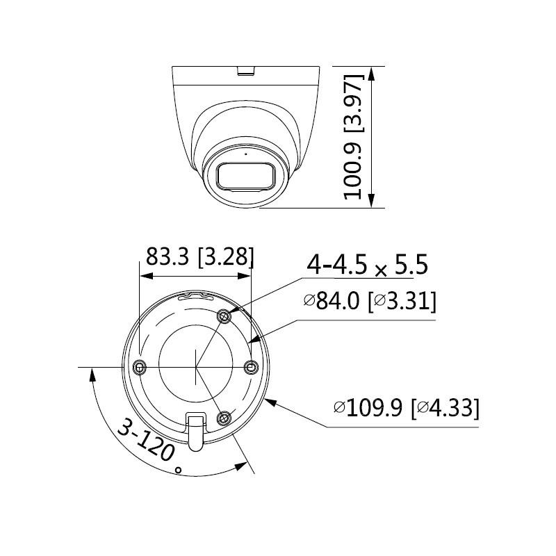 Dahua IPC-HDW2231T-AS-0360B-S2 2 Mpx dome IP kamera