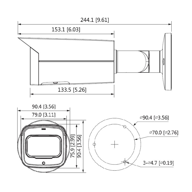 Dahua IPC-HFW2431TP-ZS-27135-S2 4 Mpx kompaktní IP kamera