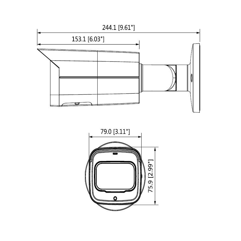 Dahua IPC-HFW4239TP-ASE-NI-0360B 2 Mpx kompaktní IP kamera