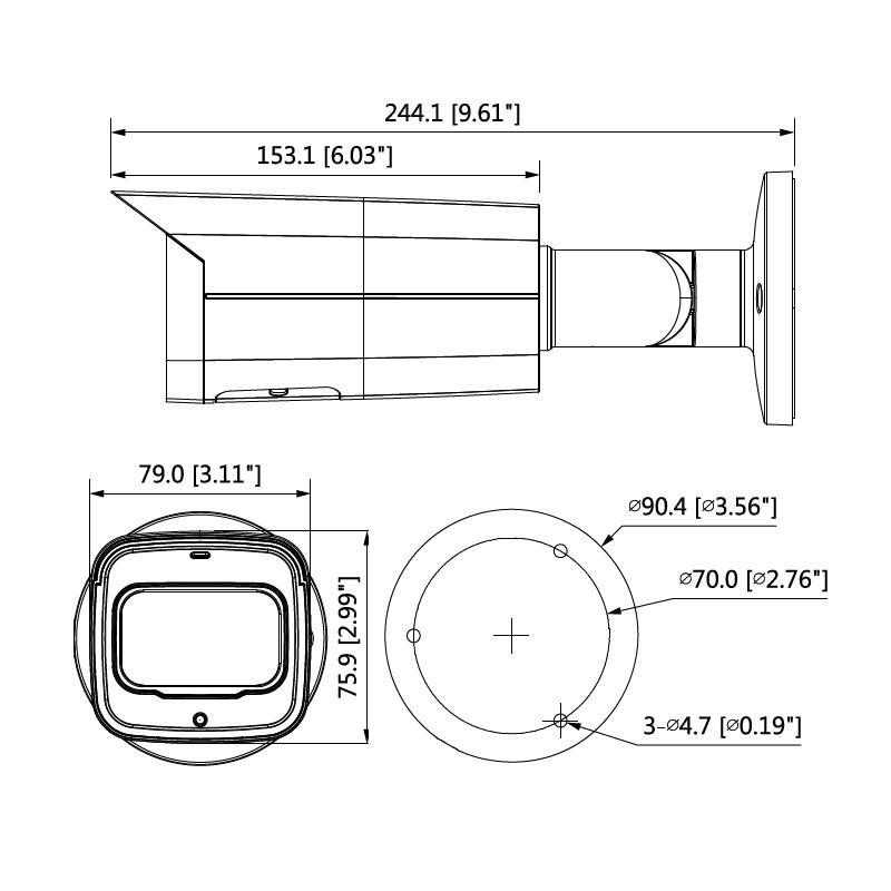 Dahua IPC-HFW5241T-ASE-0280B-BLACK 2 Mpx kompaktní IP kamera