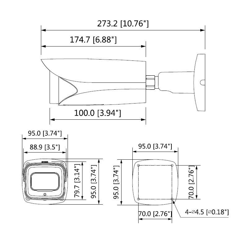 Dahua IPC-HFW5442E-ZE-2712 4 Mpx kompaktní IP kamera