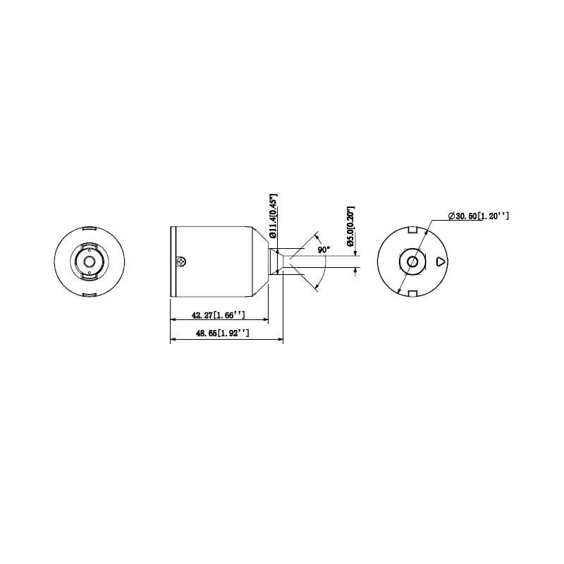 Dahua IPC-HUM8231-L1-0280B 2MPx pinhole objektiv