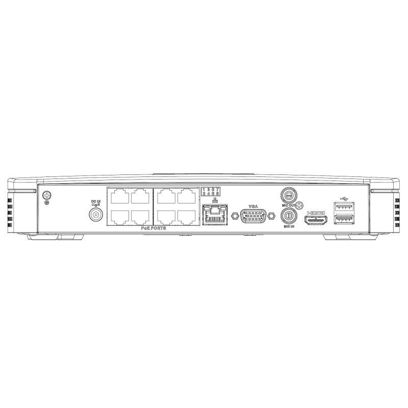 Dahua NVR2108-8P-4KS2 IP záznamové zařízení 4K