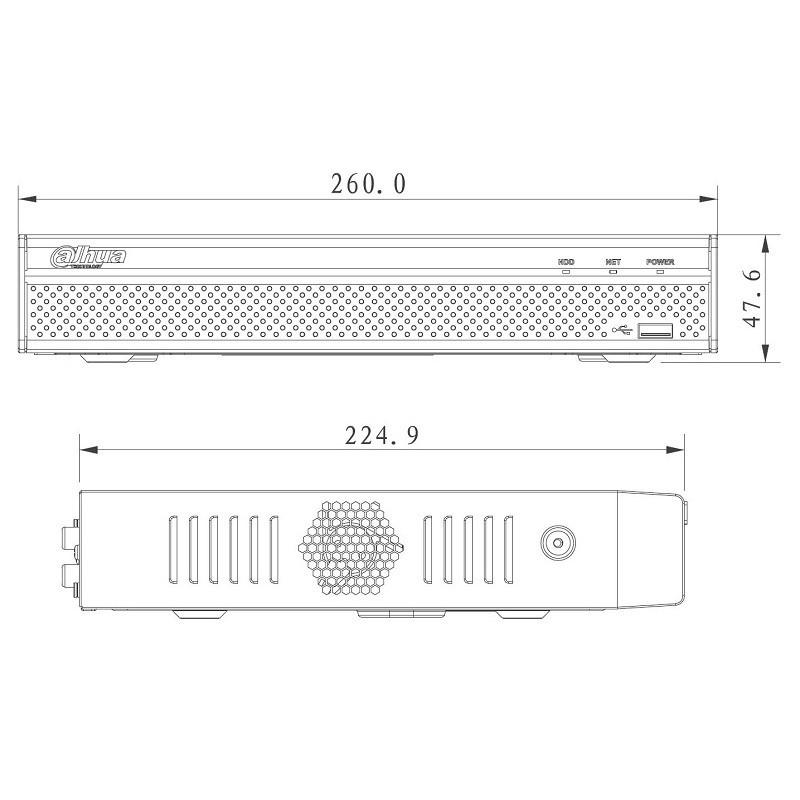Dahua NVR4104HS-4KS2 záznamové zařízení 4K