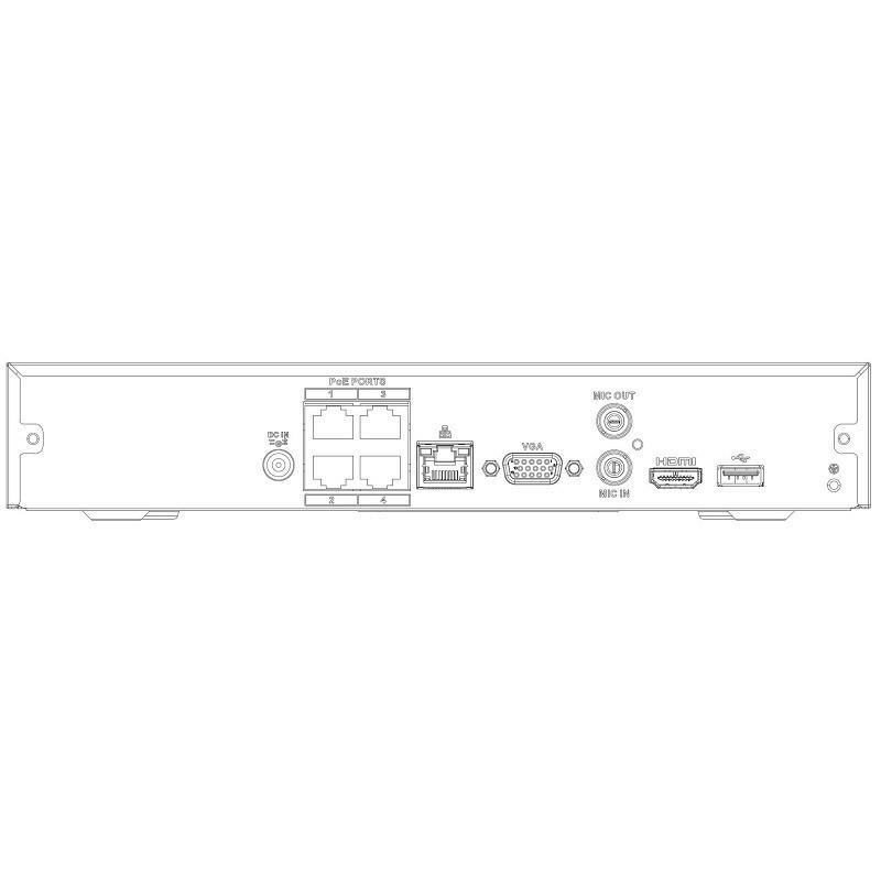 Dahua NVR4104HS-P-4KS2 záznamové zařízení 4K