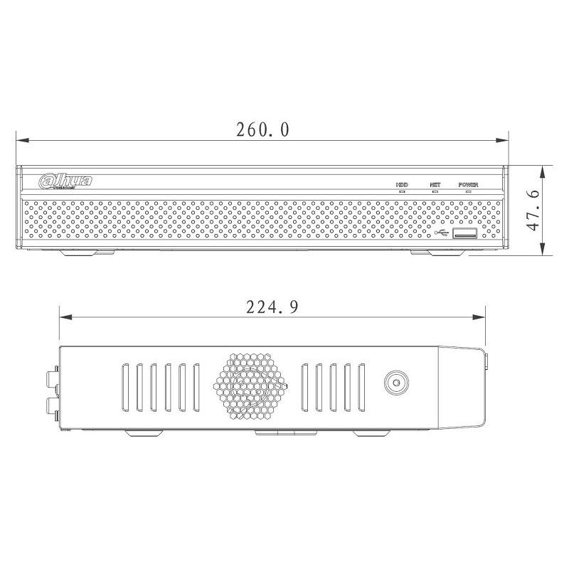 Dahua NVR4108HS-4KS2 IP záznamové zařízení 4K