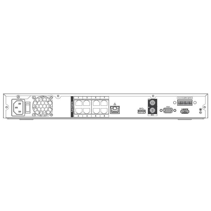 Dahua NVR4208-8P-4KS2 videorekordér IP