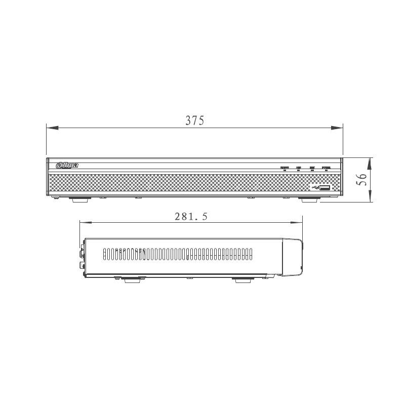 Dahua NVR4216-4KS2 IP záznamové zařízení 4K