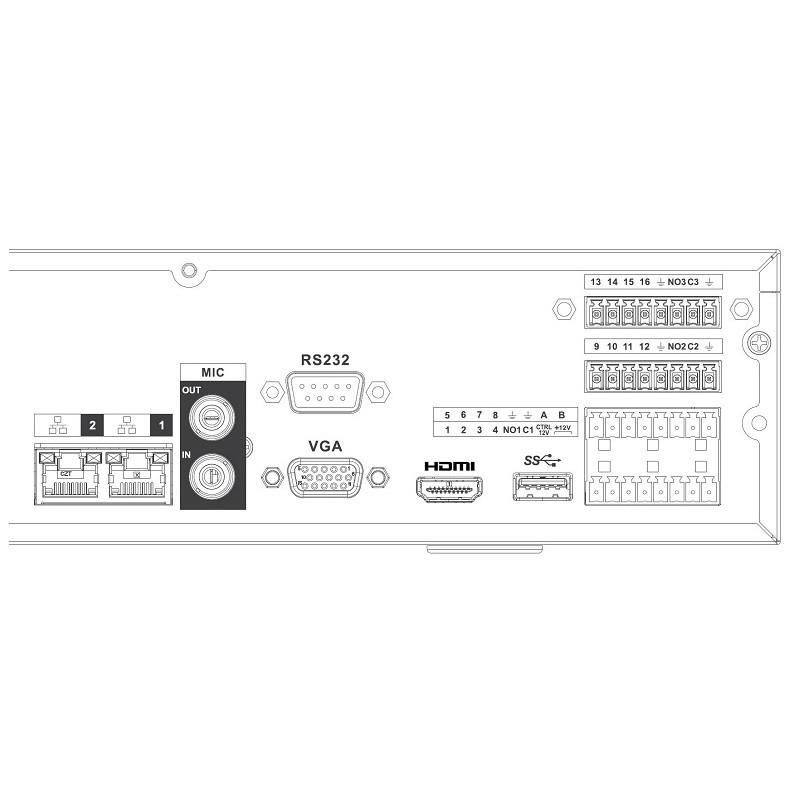 Dahua NVR4432-4KS2 IP záznamové zařízení 4K