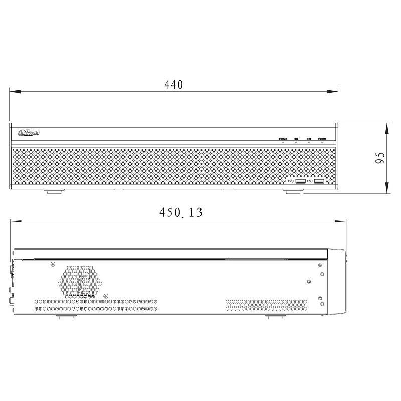 Dahua NVR4832-4KS2 záznamové zařízení 4K