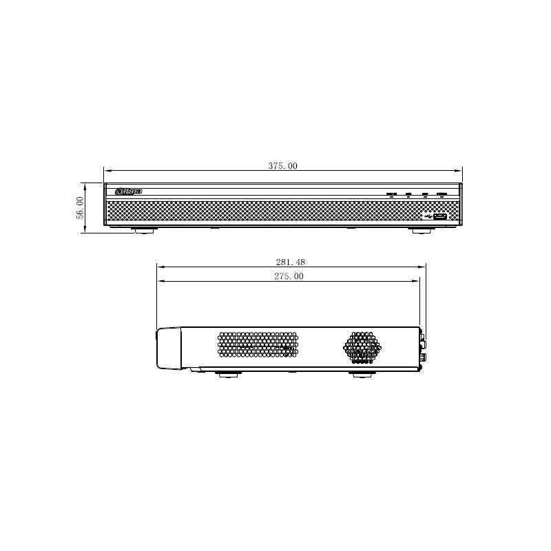 Dahua NVR5216-4KS2 V2.0 záznamové zařízení 4K