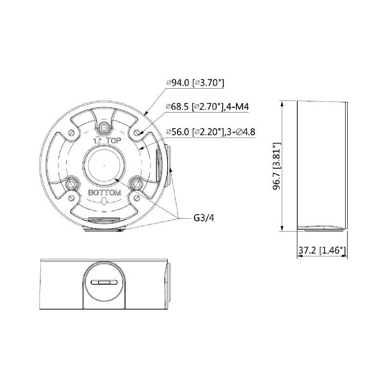 Dahua PFA13A-E propojovací box