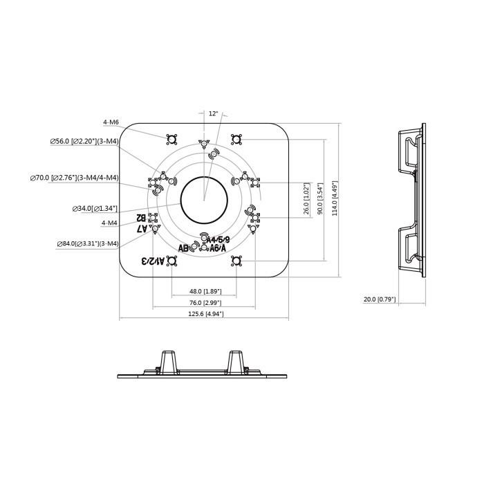 Dahua PFA152-E adaptér pro montáž Dahua kamer na sloup