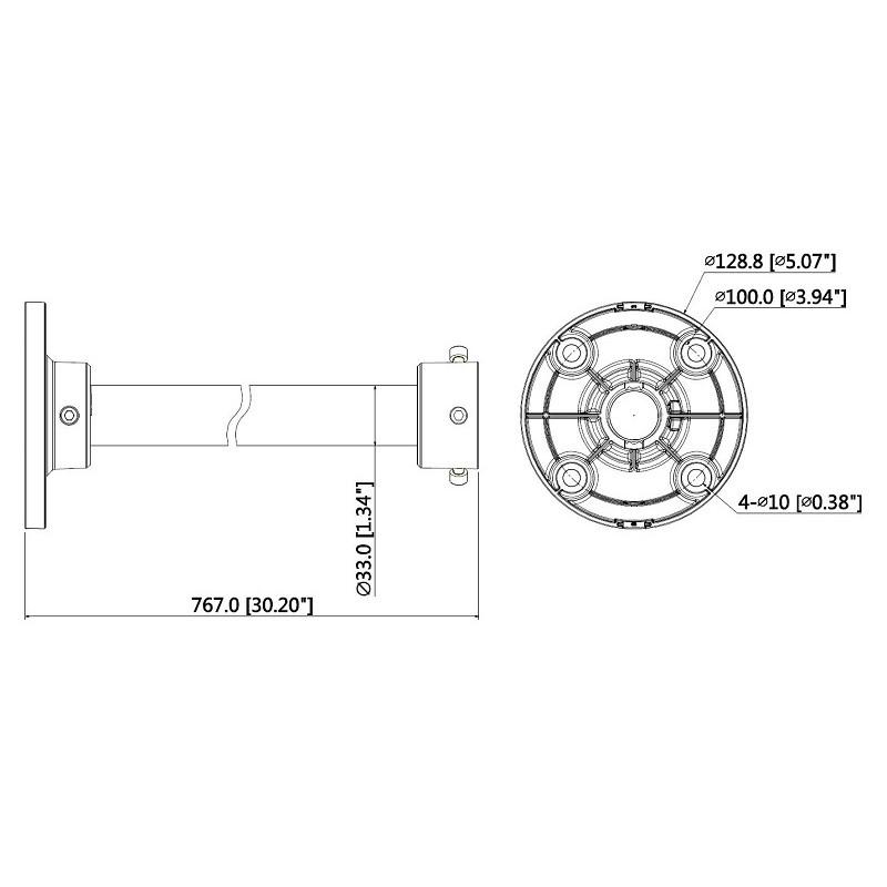 Dahua PFB220C závěsná tyč pro kamery