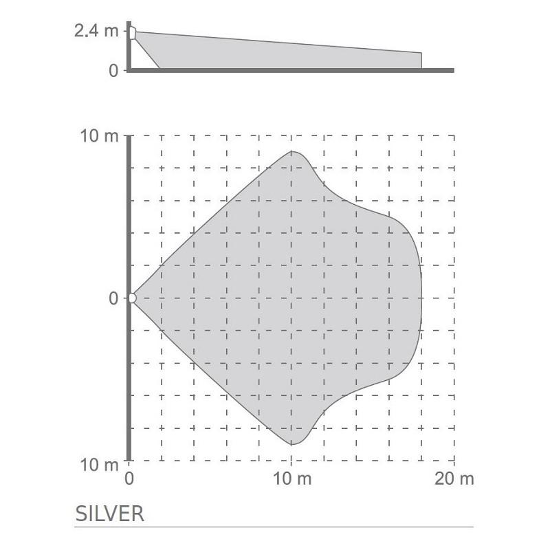Satel SILVER pokročilý digitální PIR+MW detektor