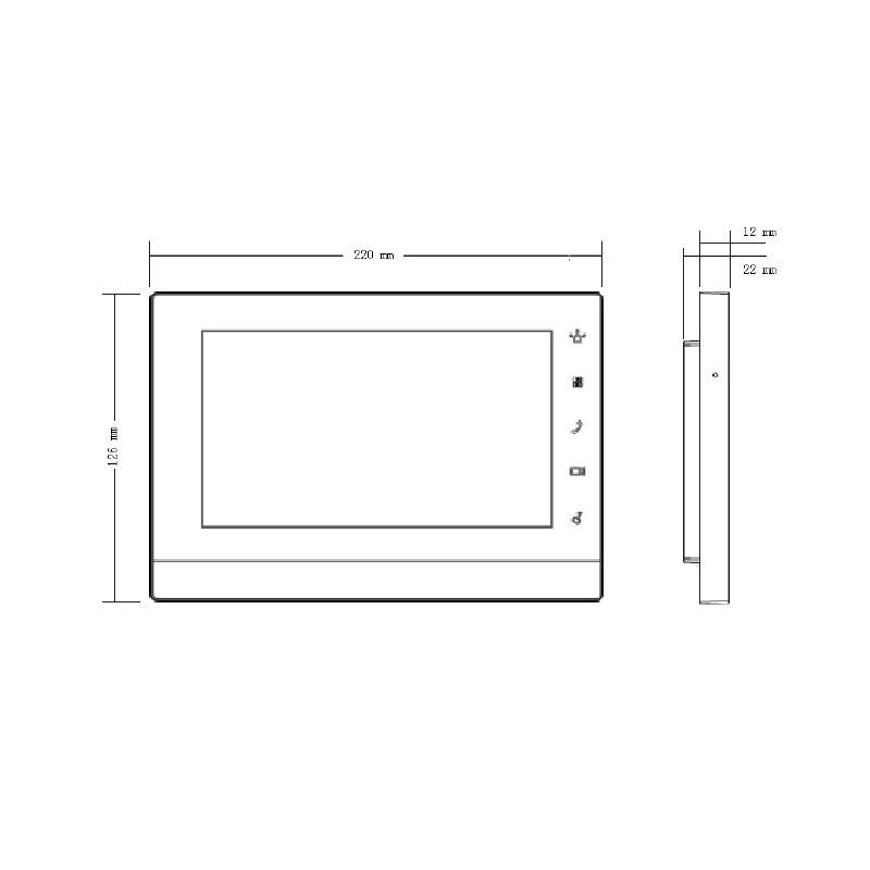 "Dahua VTH5221DW-S2 videomonitor 7"" dotykový"
