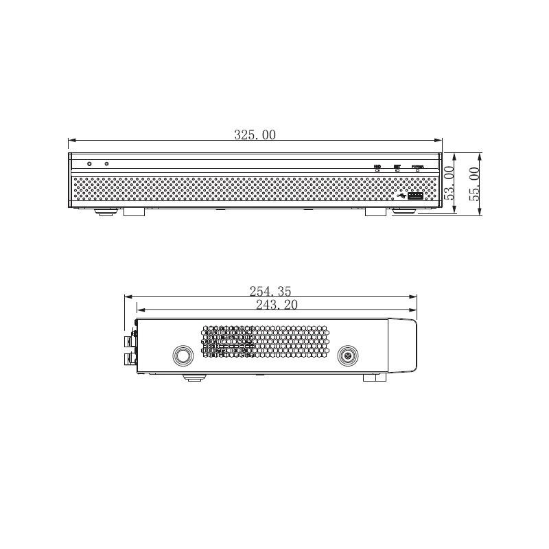 Dahua XVR5108H-4KL-X-8P pentabridní videorekordér