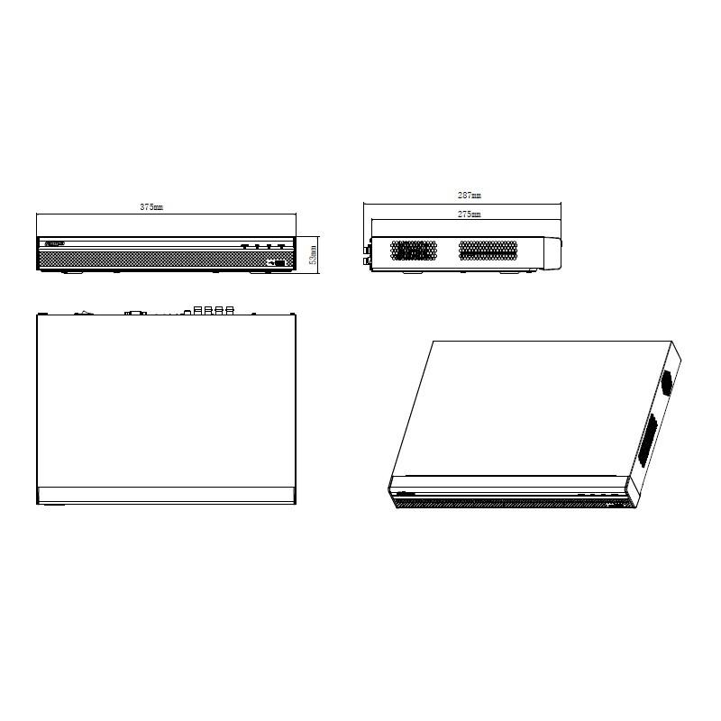 Dahua XVR5216AN-4KL-X pentabridní videorekordér 16kanálový