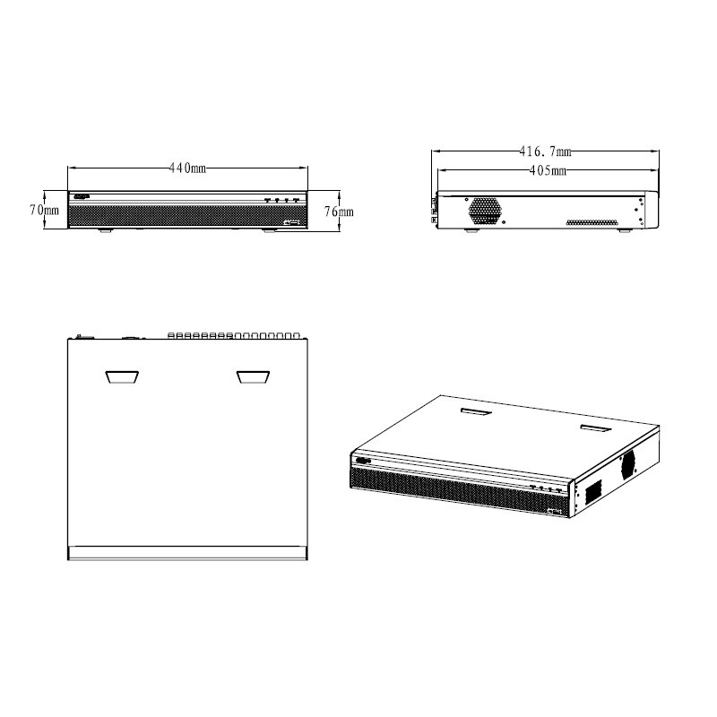 Dahua XVR5432L-X pentabridní videorekordér 32kanálový